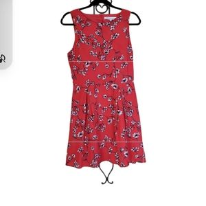 Cupcakes and cashmere floral zip up dress large